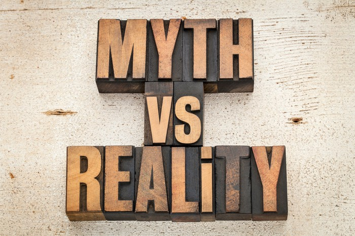 letters saying myth vs reality