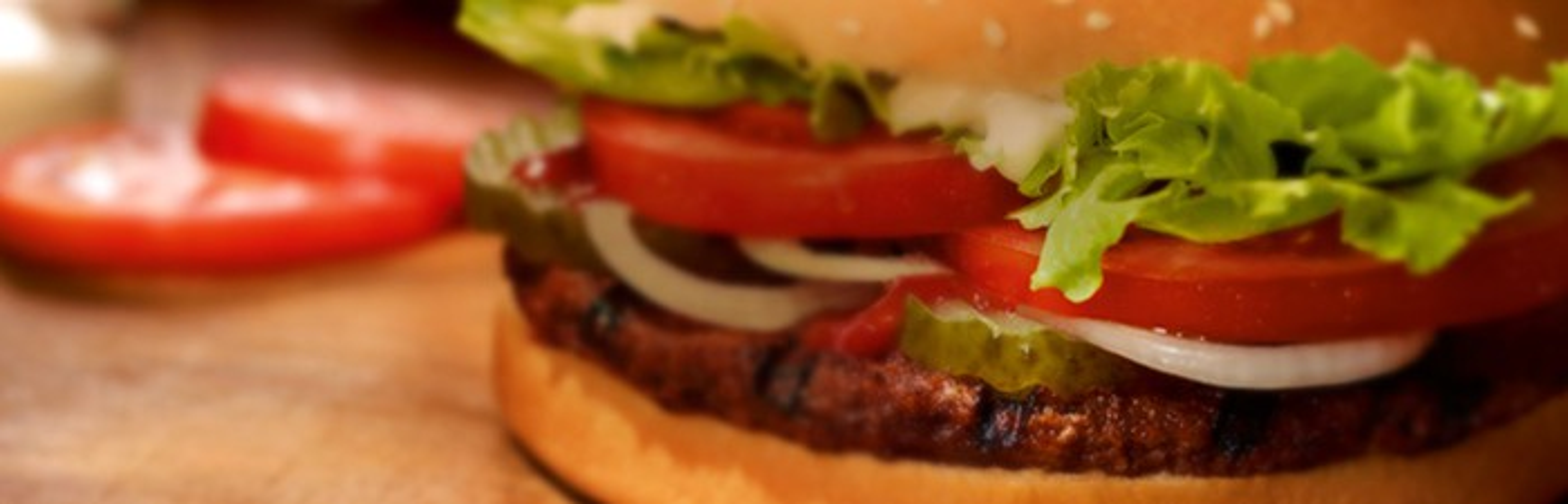 A close up of a Burger King Whopper sandwich.