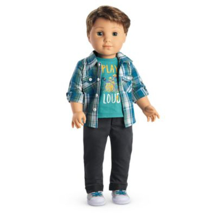 The first boy character in the American Girl doll series, Logan Everett