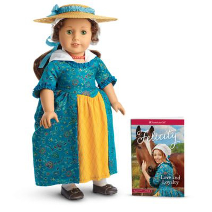 Felicity was one of the first historical characters introduced in the American Girl doll collection
