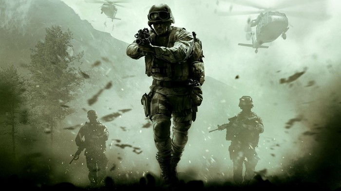 """Soldiers in combat within """"Call of Duty"""" game"""