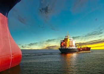 Tanker Ships at Sunset
