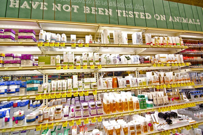 A display in a Whole Foods store.
