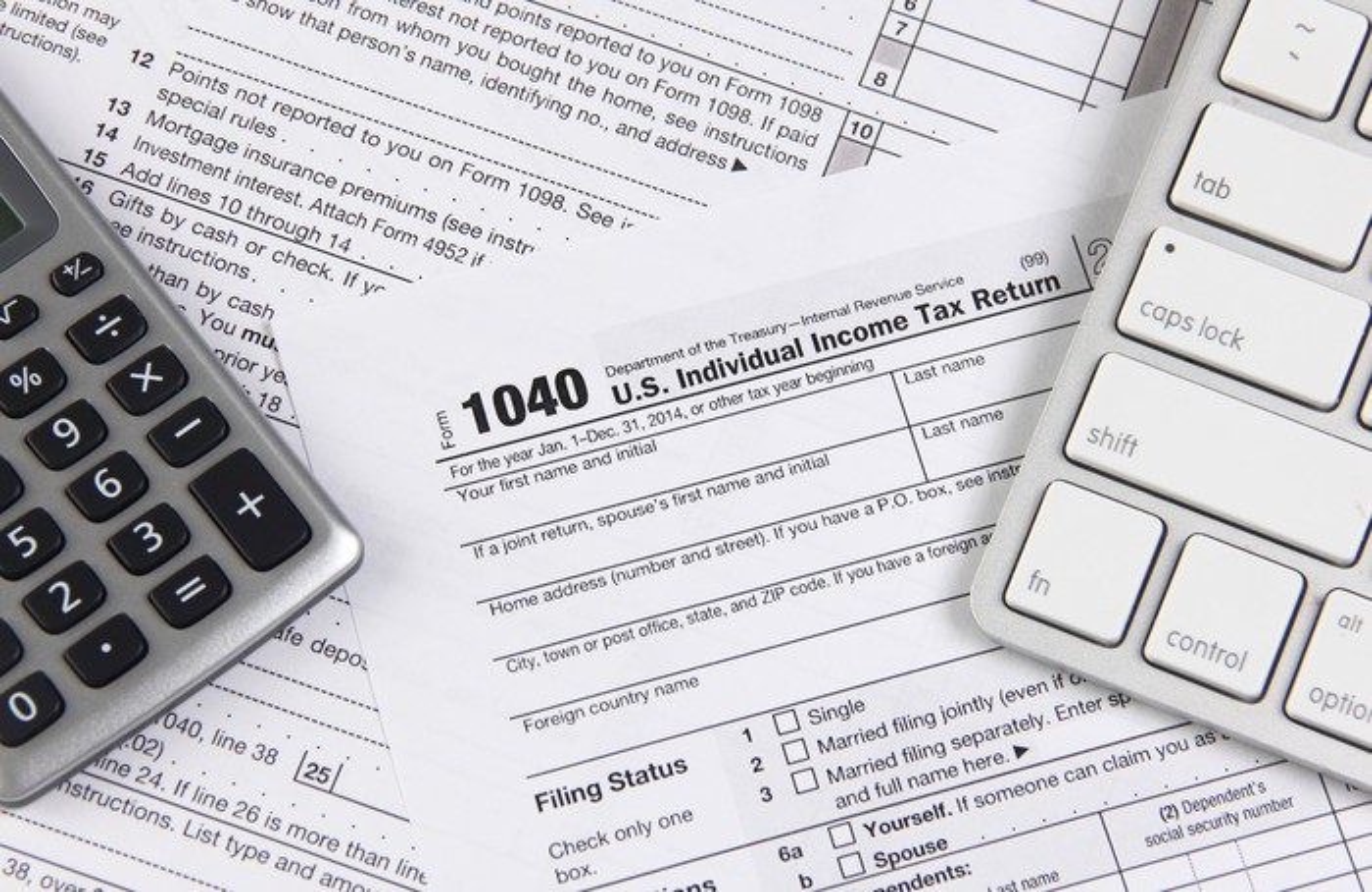 1040 tax form.
