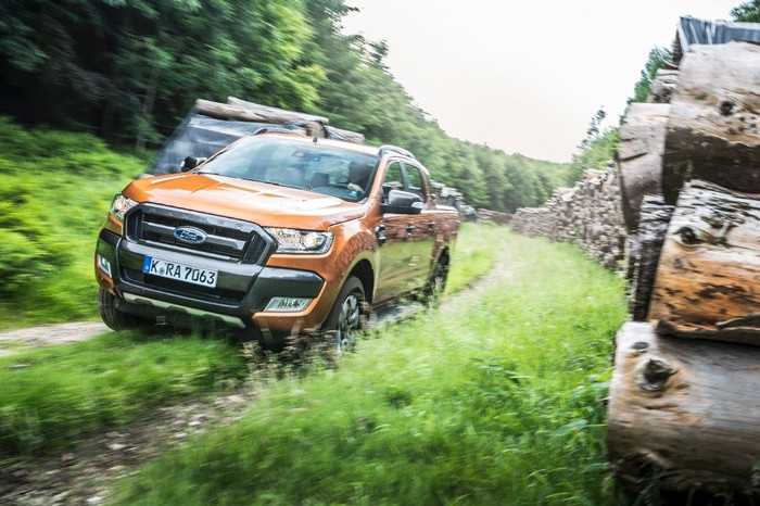 Ford's Ranger driving off-road