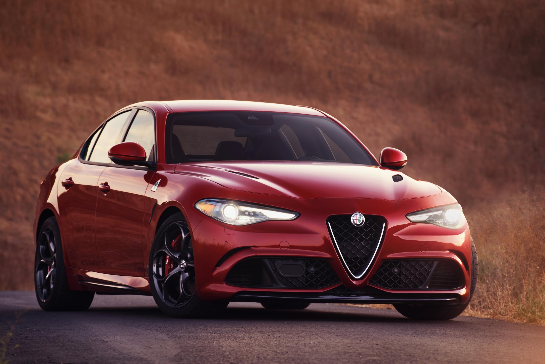 Red Alfa Romeo Giulia sedan