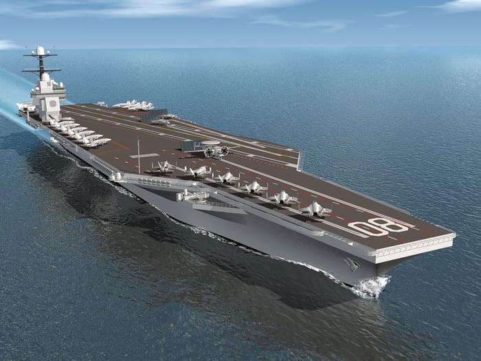 Aircraft carrier USS Enterprise (CVN 80).