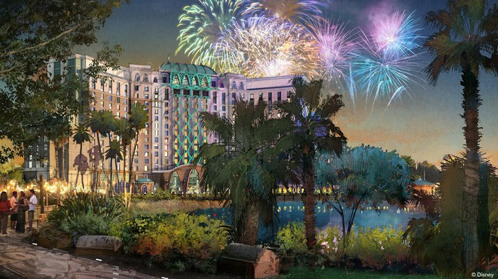 Concept art for Disney's Coronado Springs hotel tower set to open by 2019.