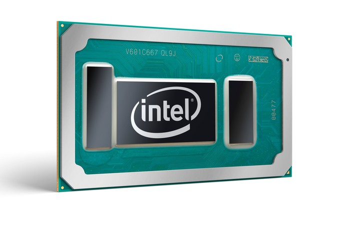 A render of an Intel 7th generation Core chip for notebooks.
