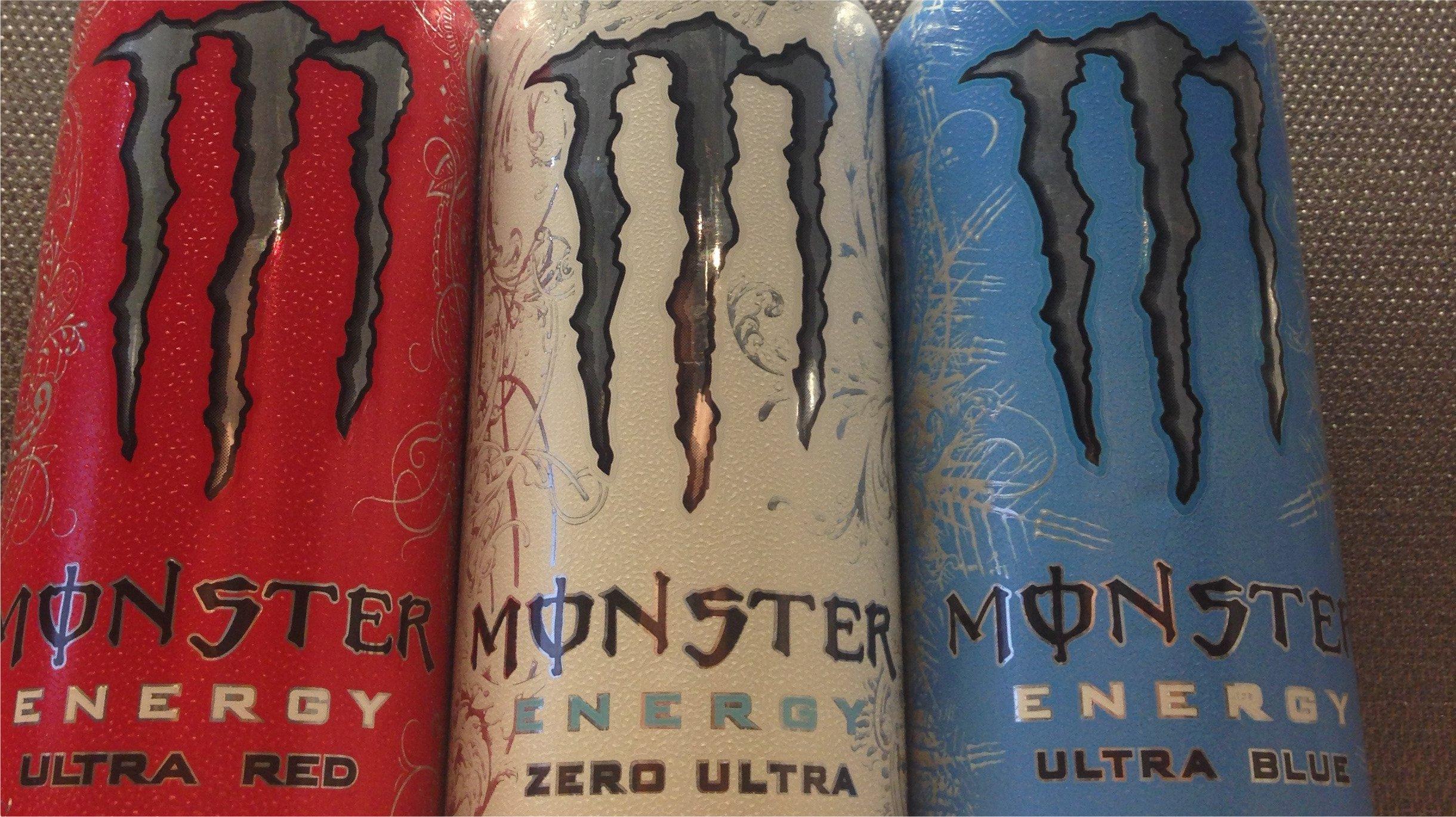 Monster's flagship energy drinks.
