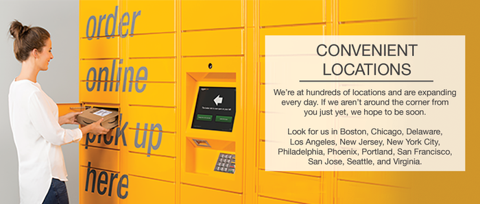 An Amazon Locker.