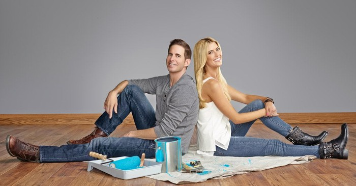 "Promotional still from HGTV home renovation show ""Flip or Flop."""
