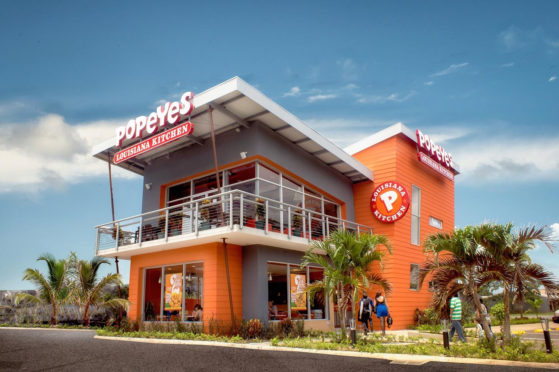 Popeyes Restaurant in Costa Rica