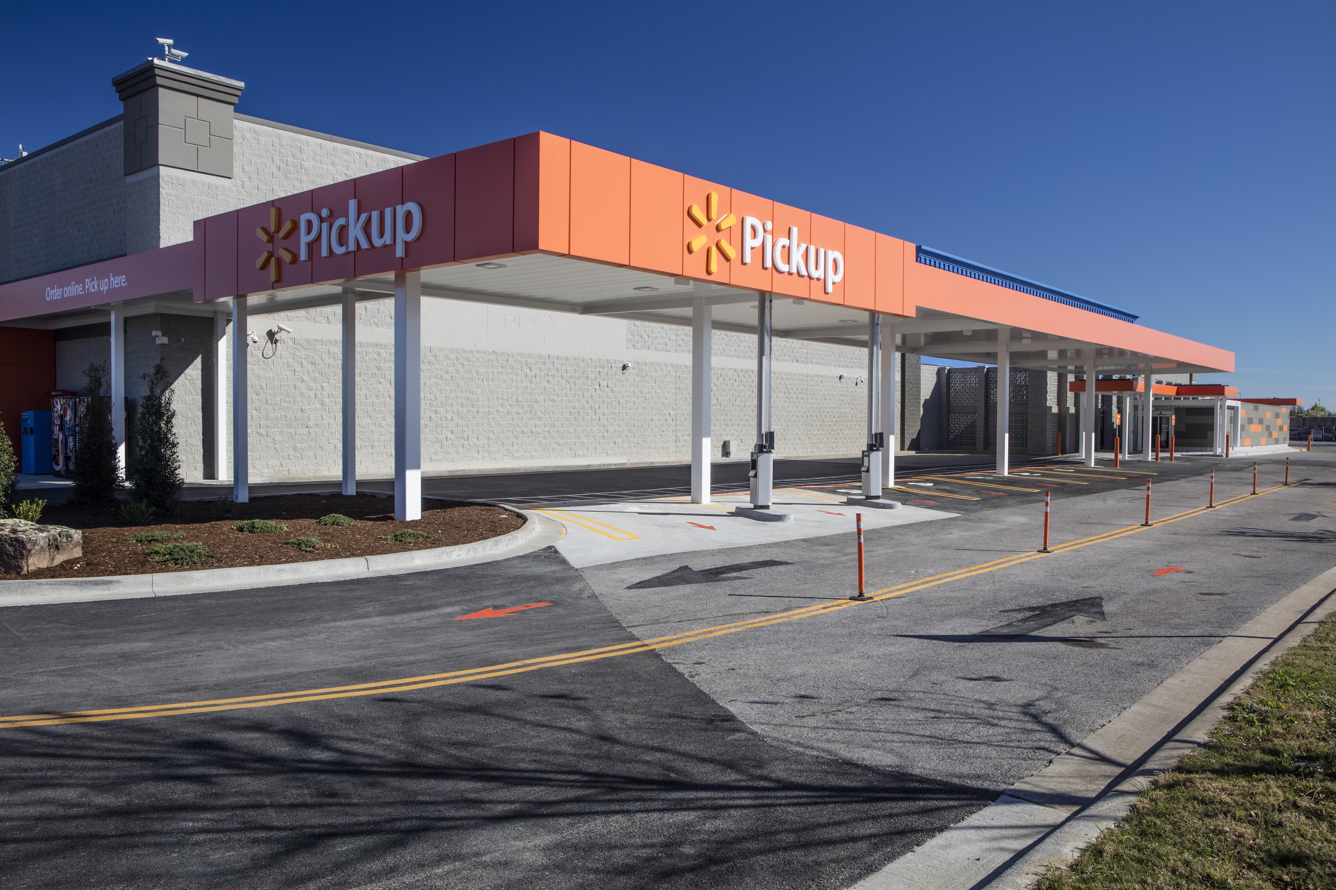 The pickup area at a Wal-Mart supercenter.