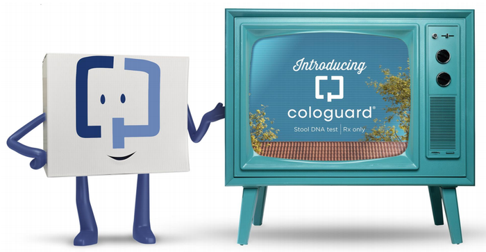 Image from Exact Sciences television campaign for boosting Cologuard awareness and compliance.