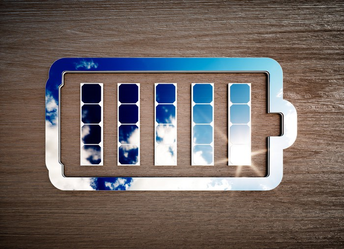 Abstract image of a battery.