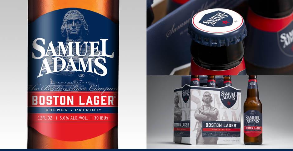 New labels for Boston Beer's Samuel Adams Boston Lager