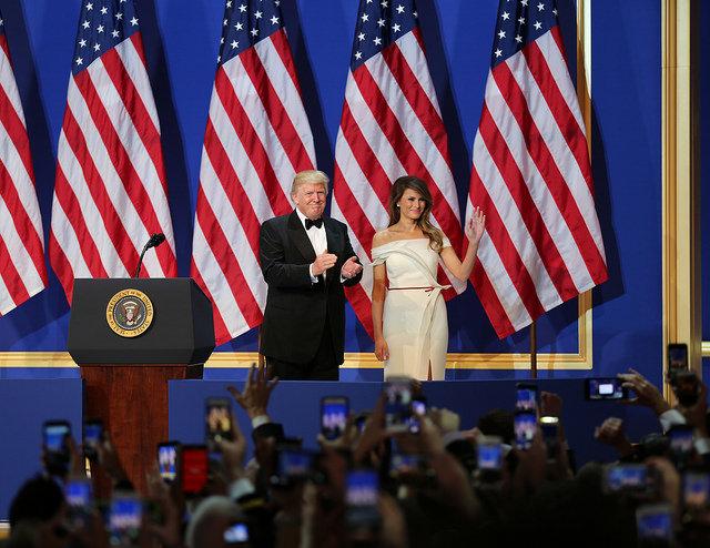 Donald Trump with wife Melania.