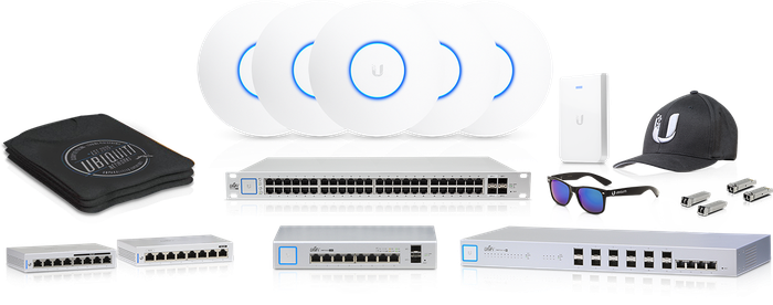 Ubiquiti access points, switches, and other gear