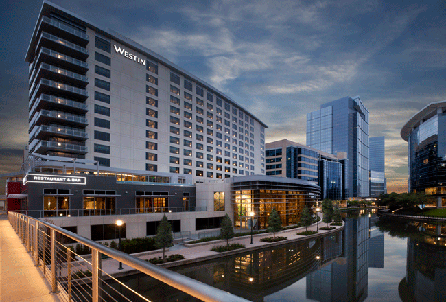 The newly completed Westin hotel at The Woodlands.