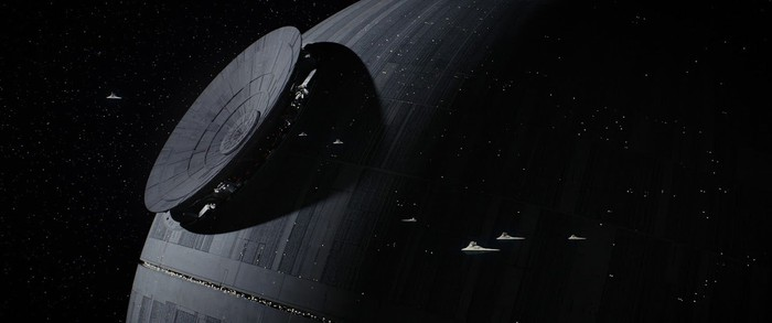 A space station from Rogue One.