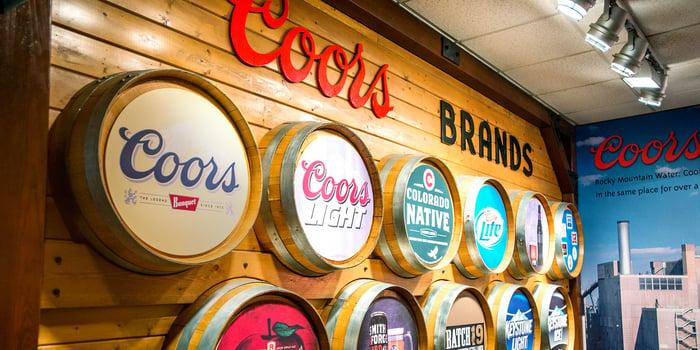 Coors brand barrels