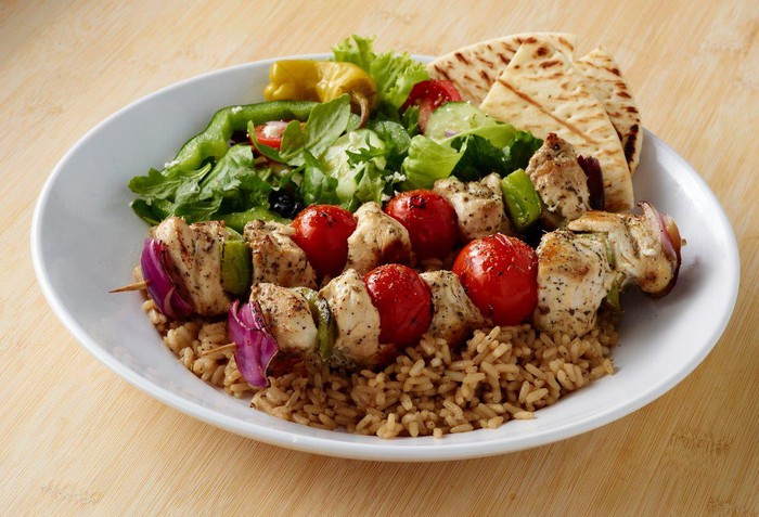 Zoe's Kitchen's chicken kabobs