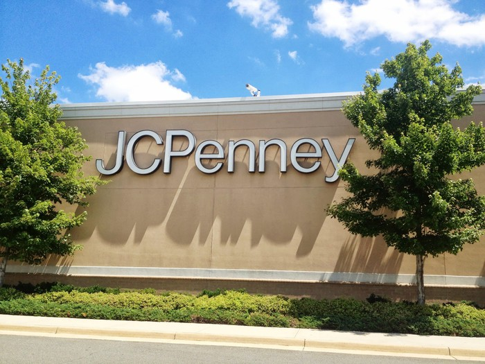 The exterior of a J.C. Penney store in the sunlight