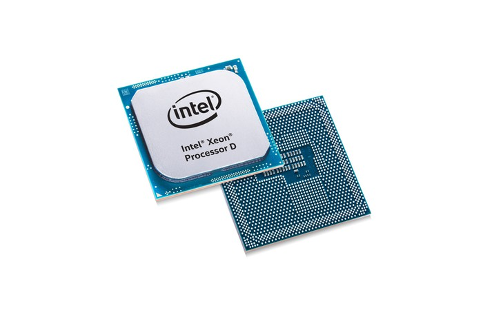 This image shows Intel's Xeon D processor,  processor family manufactured on Intel's 14-nanometer technology and aimed at dense server and networking workloads.