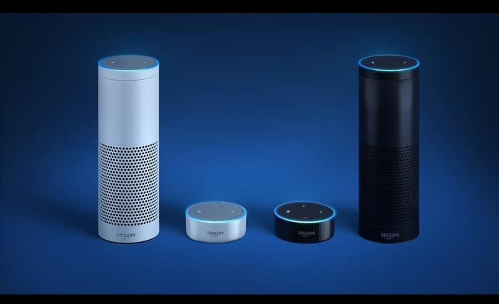 The Amazon Echo and Amazon Dot