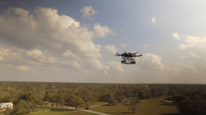 UPS testing a drone in Florida