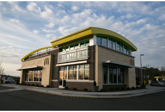 The outside of a McDonald's restaurant