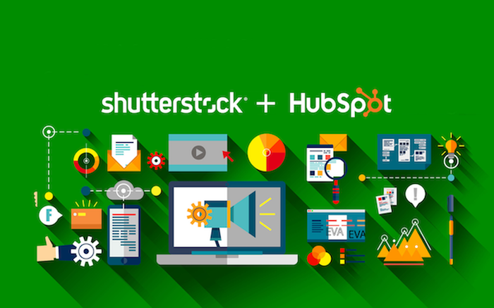 A diagram of Shutterstock's relationship with Hubspot