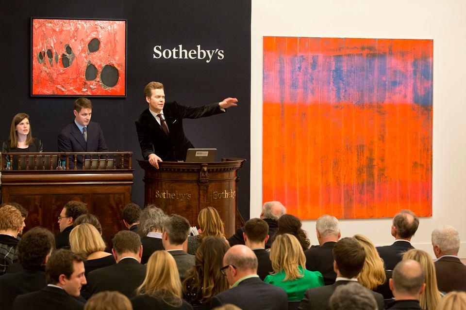 A Sothebys auction in progress.