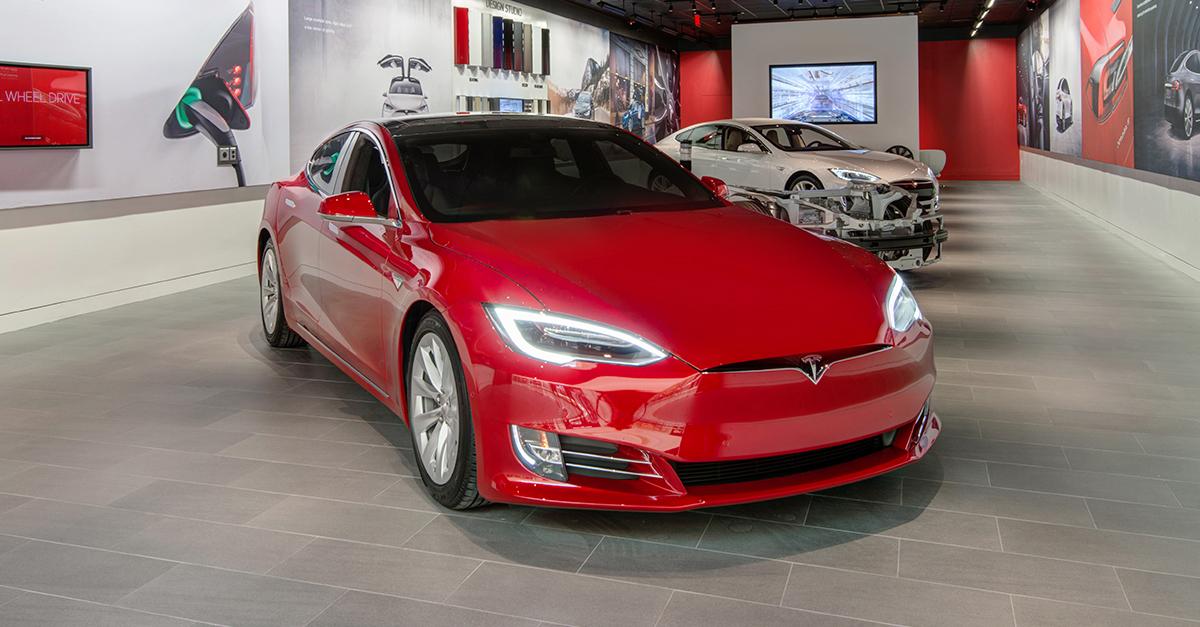 Tesla electric vehicle.