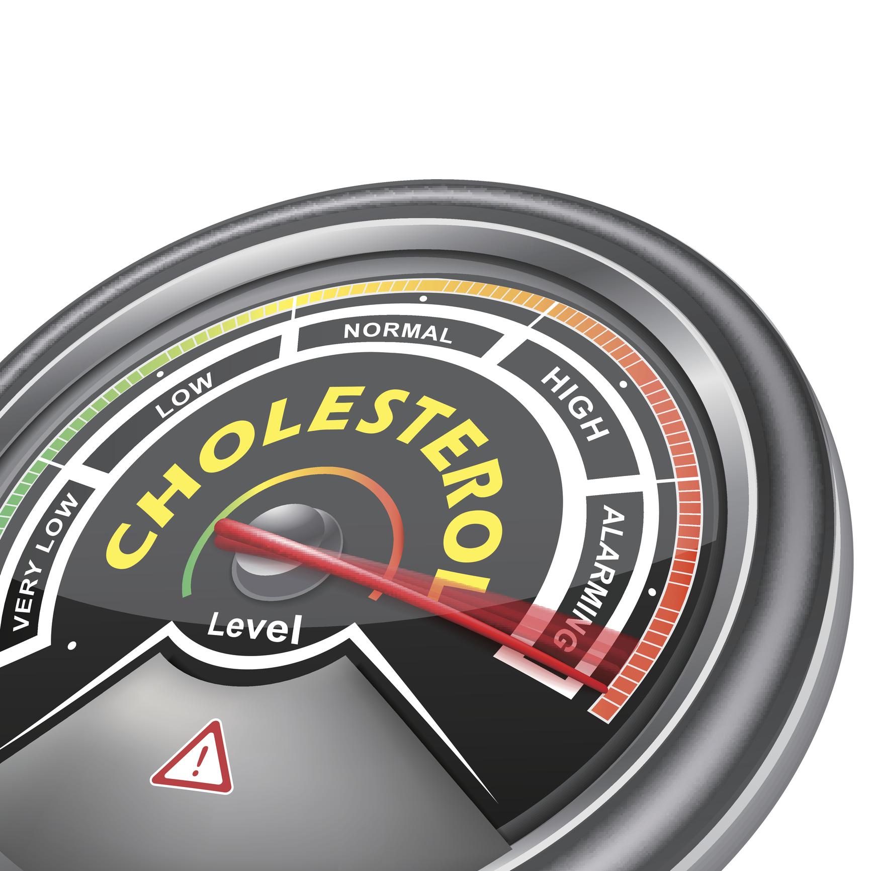 Cholesterol meter measuring the highest setting