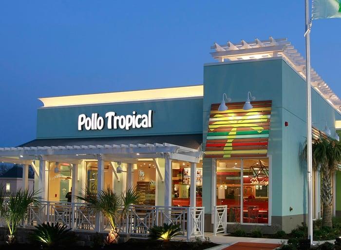 A Pollo Tropical restaurant.