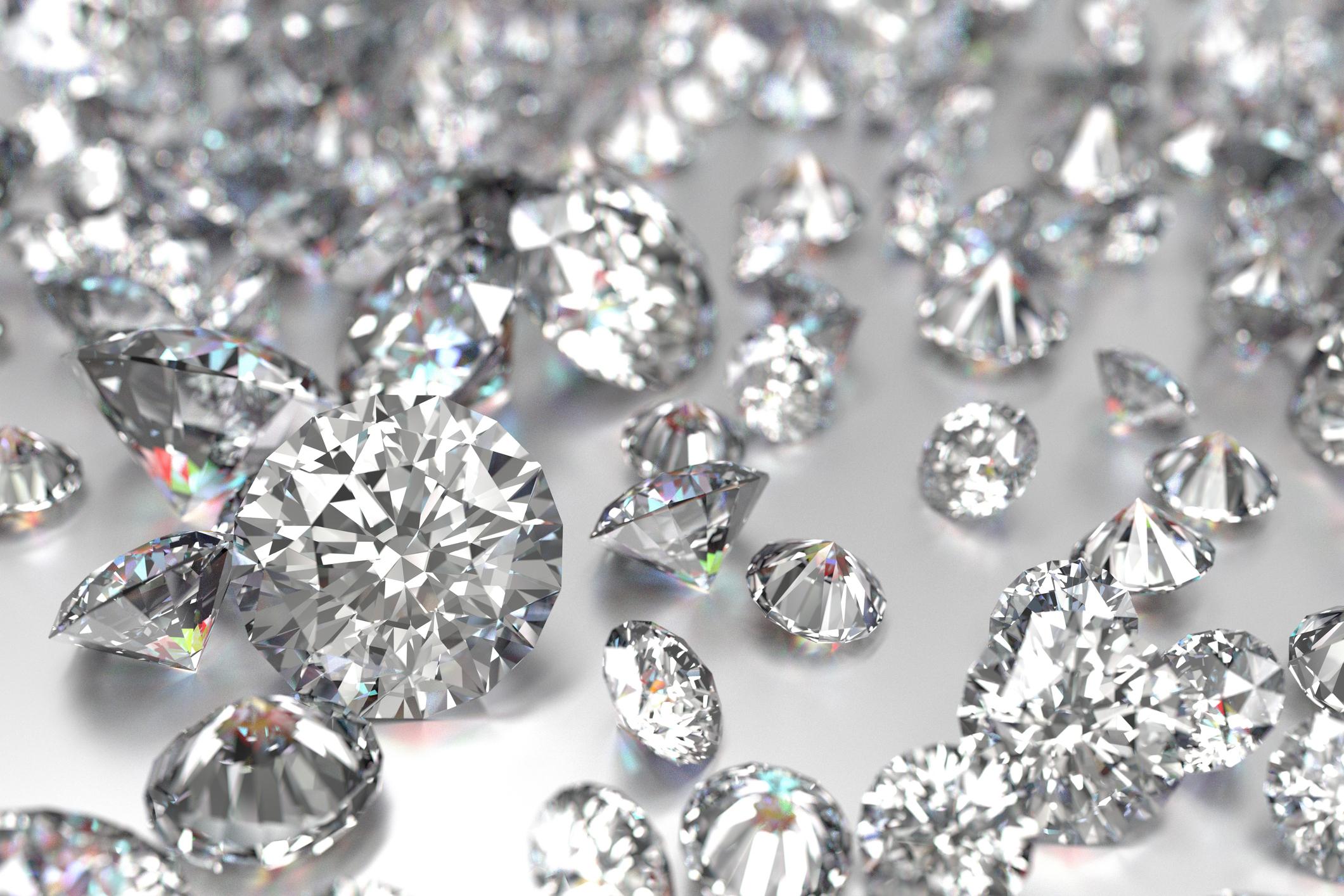 A large pile of diamonds.