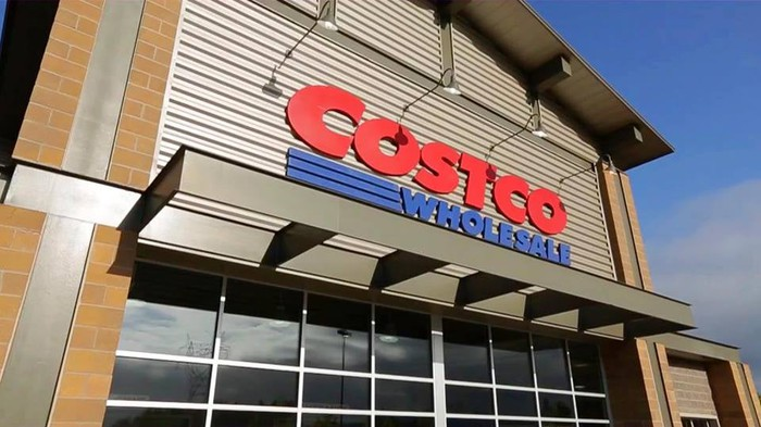 Exterior shot of a Costco store.