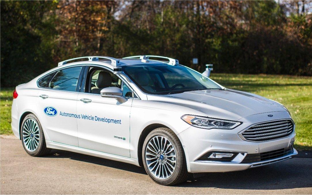 Ford's autonomous Fusion hybrid.