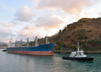 Dry Bulk Ship and Tug