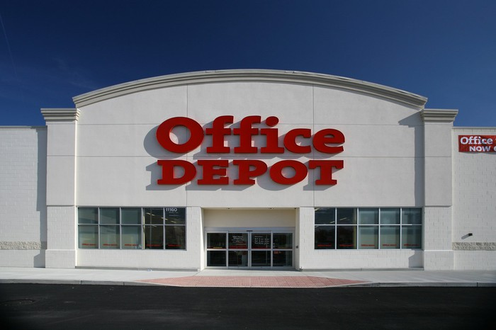 An Office Depot storefront.