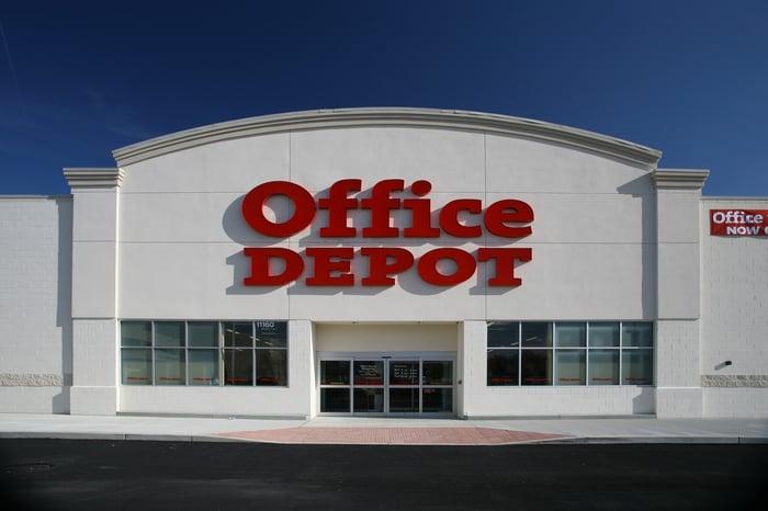 An Office Depot storefront.