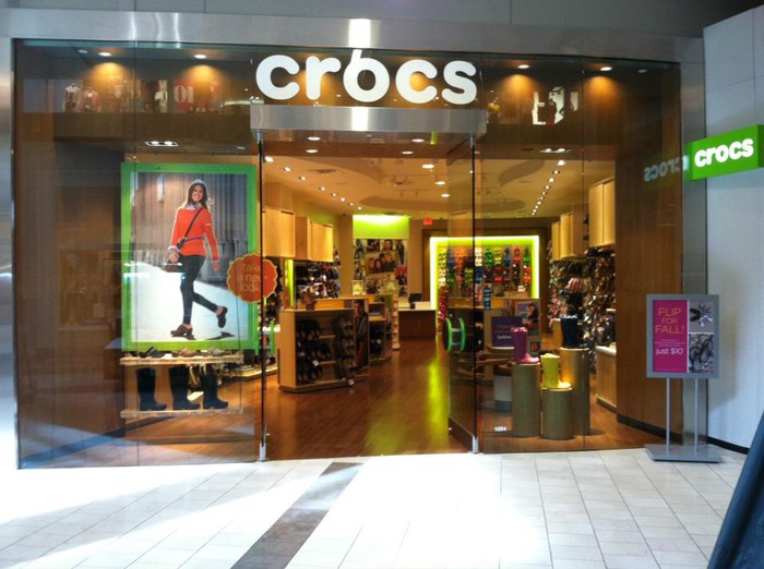 A Crocs storefront.