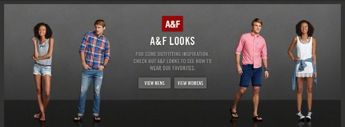 Teens wearing Abercrombie & Fitch clothing.