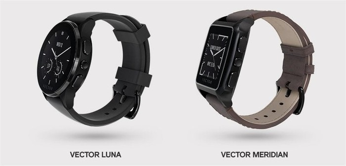 Vector's Luna and Meridian smartwatches.