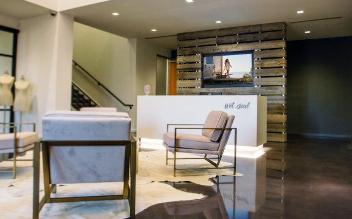 A Wet Seal store lobby