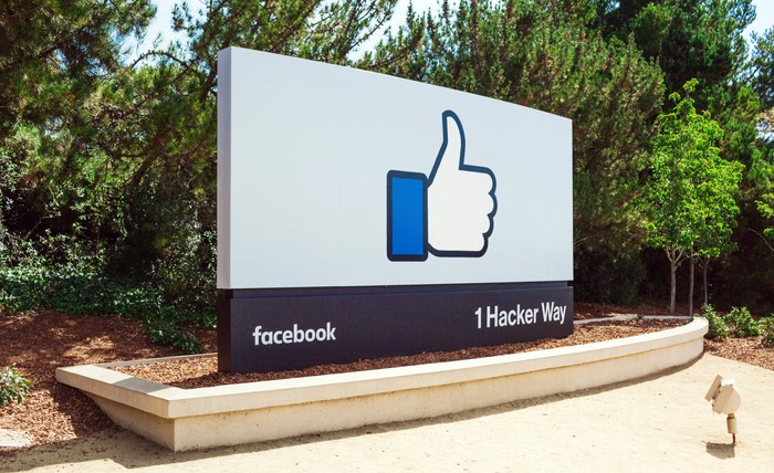 Image of Facebook's headquarter's sign.