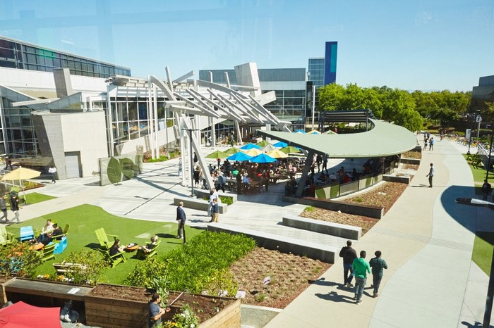 Picture of Google's campus.
