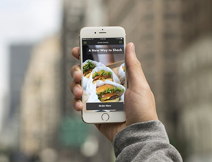 A smartphone with the new Shake Shack app